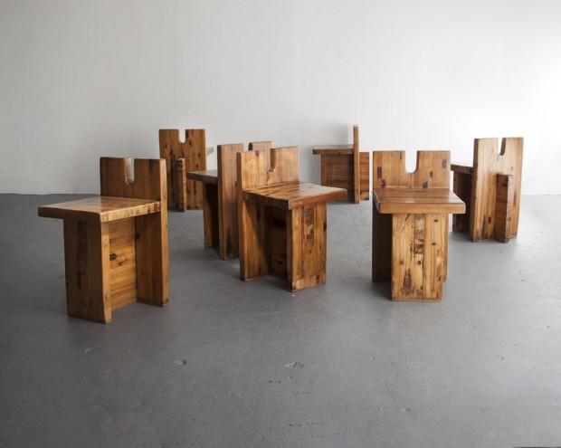 Cadeira de Lina Bo Bardi em mostra que começa em março na galeria R & Company, em Nova York