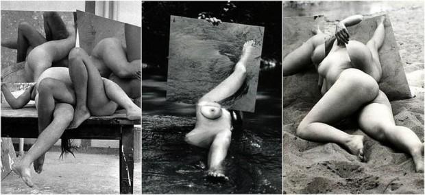 Fotografias de Hans Breder em colaboração com Ana Mendieta, na galeria Theredoom, em Madri