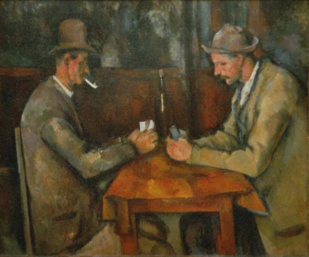 'Os Jogadores de Cartas', tela de 1890, de Paul Cézanne