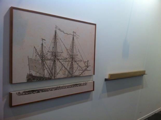 Obra de Ivan Grilo, na galeria Casa Triângulo, de São Paulo