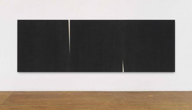 Obra de Richard Serra na mostra 'Into the Light', na galeria Raquel Arnaud