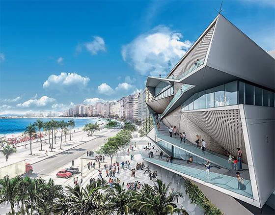 Projeto do novo Museu da Imagem e do Som, desenho da firma Diller Scofidio + Renfro, no Rio