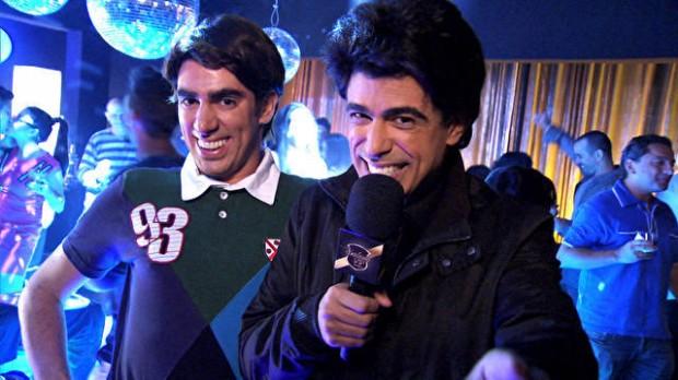 Marcelo Adnet e Marcius Melhem em cena de 'Tá no Ar: A TV na TV', da Globo
