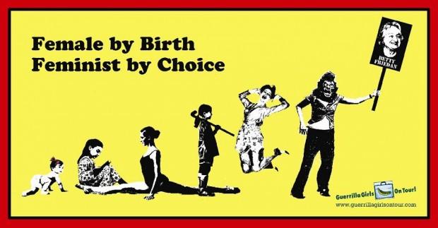 Cartaz criado pelas Guerrilla Girls