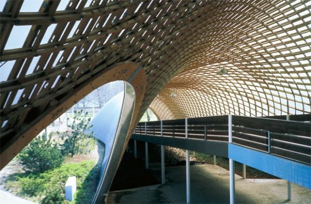 Detalhe do Multihalle, obra construída por Otto entre 1970 e 1975, em Mannheim