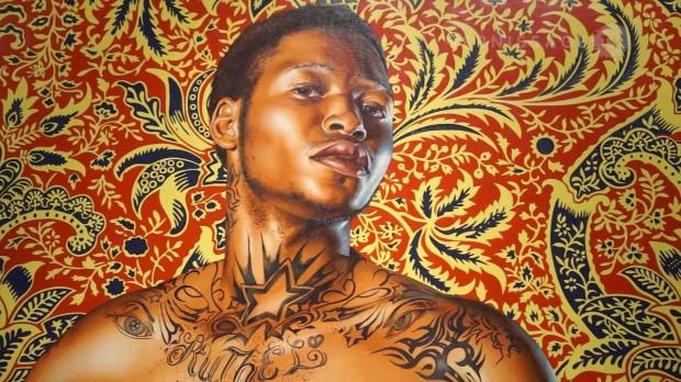 Mais uma tela de Kehinde Wiley, no Brooklyn Museum