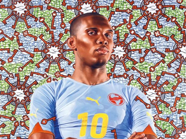 Outro trabalho de Kehinde Wiley na mostra em Nova York