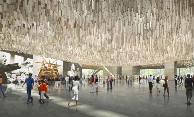 Vista interior do museu projetado por Adjaye