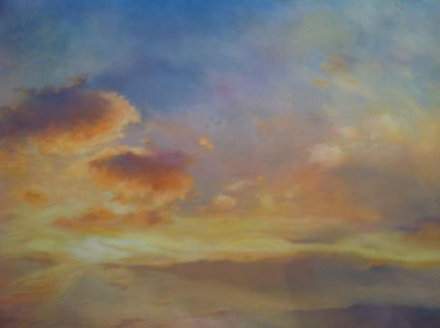 Pintura de Oscar Bony na galeria Laura Haber, na ArteBA, em Buenos Aires