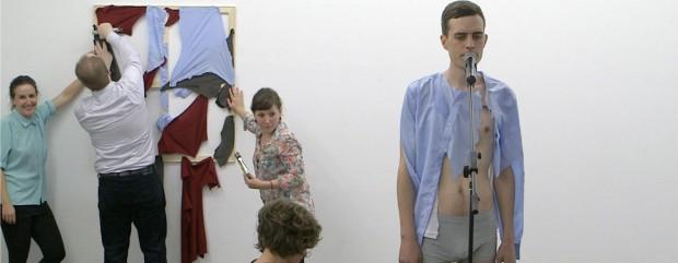 O artista dinamarquês Christian Falsnaes