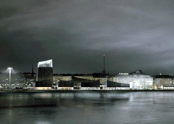 Perspectiva do novo Guggenheim em Helsinque