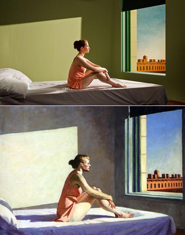'Morning Sun' de Edward Hopper e sua versão cinematográfica em 'Shirley', de Gustav Deutsch