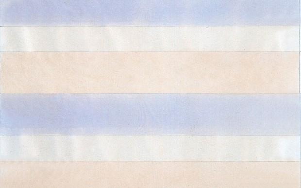 Pintura de Agnes Martin que está na retrospectiva da artista na Tate Modern, em Londres
