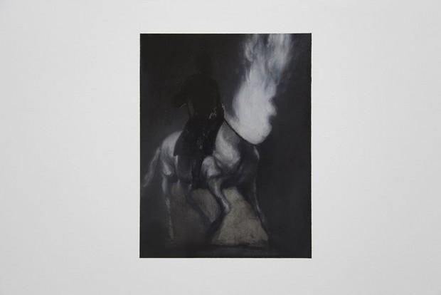 Pintura de Alain Urrutia na Kunsthalle