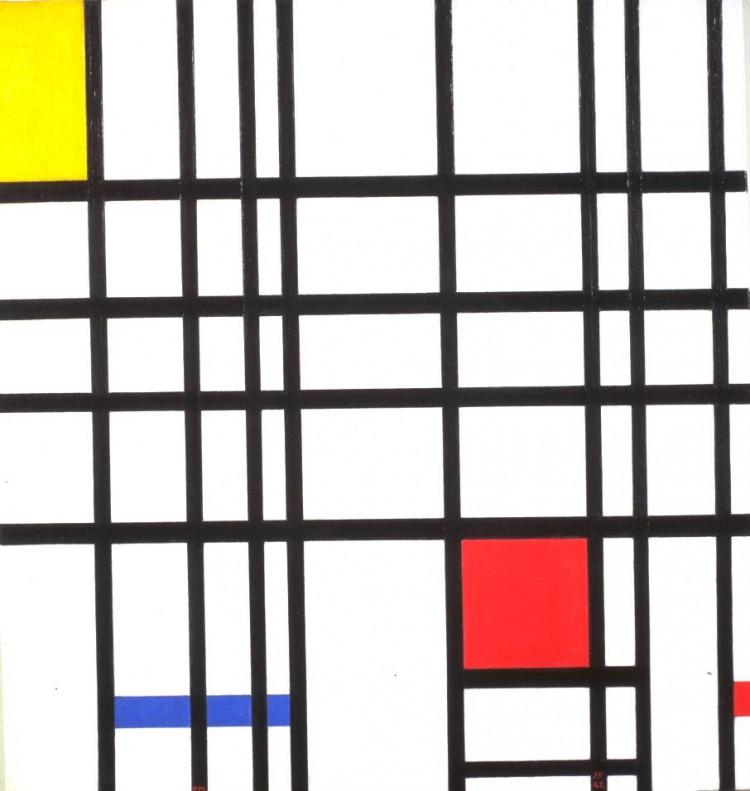 'Composição com Amarelo, Azul e Vermelho', de Piet Mondrian