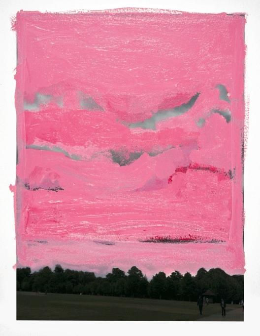 Pintura de Marina Saleme que a Luisa Strina leva à Armory