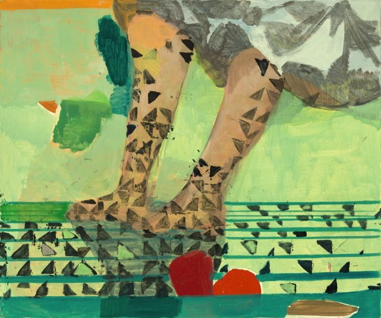 Pintura de Cristina Canale, que a Nara Roesler leva à Armory