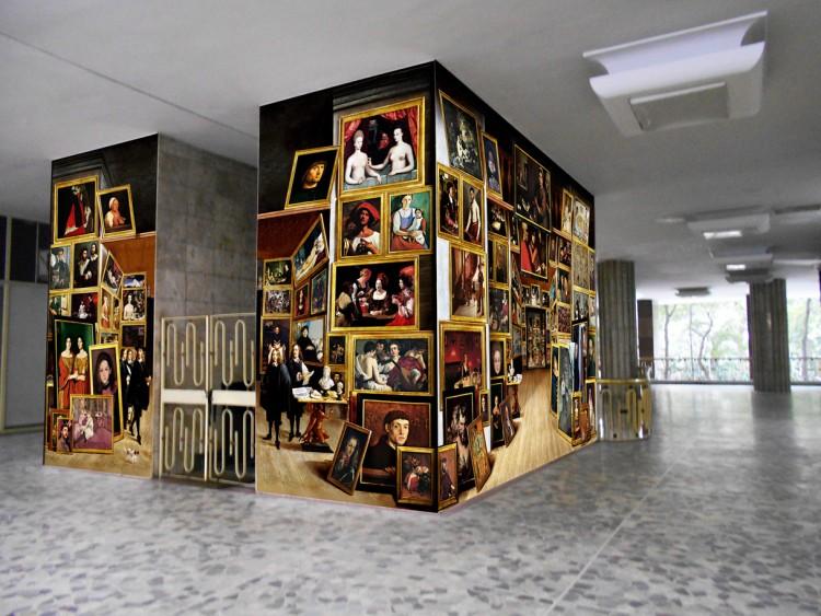 Obra de Pazé que estará em mostra no edifício Louvre, em São Paulo